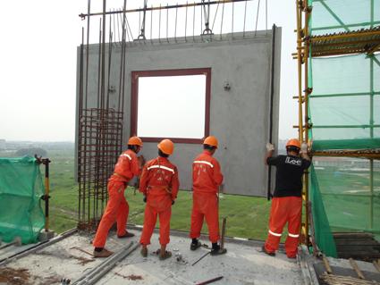 筑完成八层主体结构施工